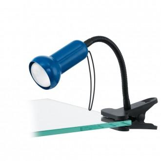 EGLO 81261 | Fabio Eglo csiptetős lámpa vezeték kapcsoló flexibilis 1x E14 kék, fekete