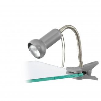 EGLO 81265 | Fabio Eglo csiptetős lámpa vezeték kapcsoló flexibilis 1x E14 ezüst