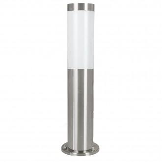 EGLO 81751 | Helsinki Eglo álló lámpa 45cm 1x E27 IP44 nemesacél, rozsdamentes acél, fehér