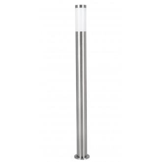 EGLO 81752 | Helsinki Eglo álló lámpa 110cm 1x E27 IP44 nemesacél, rozsdamentes acél, fehér