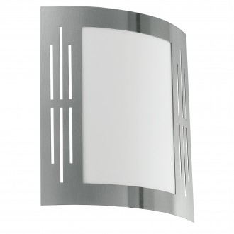 EGLO 82309 | City Eglo fali lámpa 1x E27 IP44 nemesacél, rozsdamentes acél, fehér