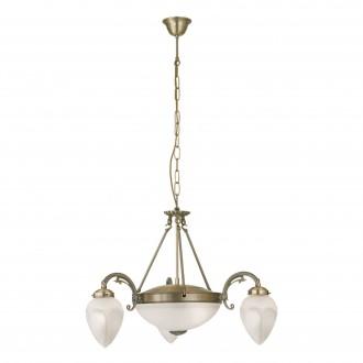EGLO 82742 | Imperial Eglo csillár lámpa 3x E14 + 2x E27 bronz, fehér