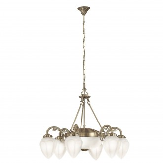 EGLO 82743 | Imperial Eglo csillár lámpa 6x E14 + 2x E27 bronz, fehér