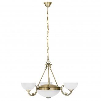 EGLO 82748 | Savoy Eglo csillár lámpa 3x E14 + 2x E27 bronz, fehér
