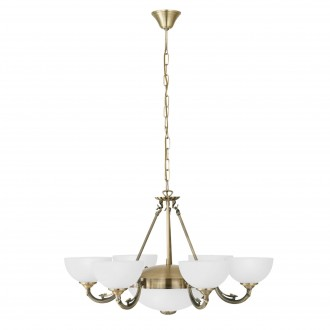 EGLO 82749 | Savoy Eglo csillár lámpa 6x E14 + 2x E27 bronz, fehér