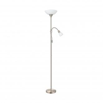 EGLO 82842 | UP2 Eglo álló lámpa 176,5cm kapcsoló 1x E27 + 1x E14 matt nikkel, fehér
