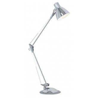 EGLO 82939 | Time Eglo asztali, satus lámpa 82cm kapcsoló flexibilis 1x E27 króm, ezüst