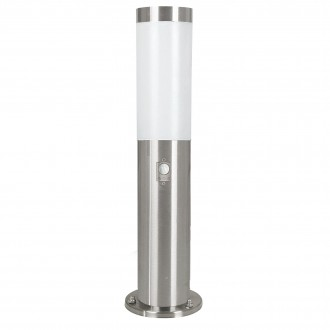 EGLO 83279 | Helsinki Eglo álló lámpa 45cm mozgásérzékelő 1x E27 IP44 nemesacél, rozsdamentes acél, fehér