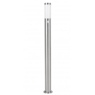 EGLO 83281 | Helsinki Eglo álló lámpa 110cm mozgásérzékelő 1x E27 IP44 nemesacél, rozsdamentes acél, fehér