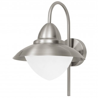 EGLO 83966 | Sidney Eglo falikar lámpa 1x E27 IP44 nemesacél, rozsdamentes acél, szatén