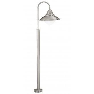 EGLO 83969 | Sidney Eglo álló lámpa 120cm 1x E27 IP44 nemesacél, rozsdamentes acél, szatén