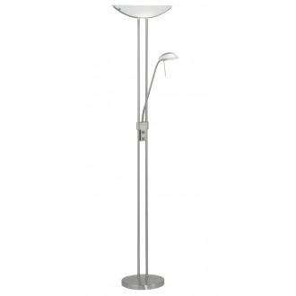 EGLO 85971 | Baya Eglo álló lámpa 180cm fényerőszabályzós kapcsoló 1x R7s + 1x G9 matt nikkel, fehér