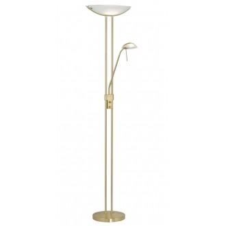 EGLO 85973 | Baya Eglo álló lámpa 180cm fényerőszabályzós kapcsoló 1x R7s + 1x G9 mattított arany, fehér