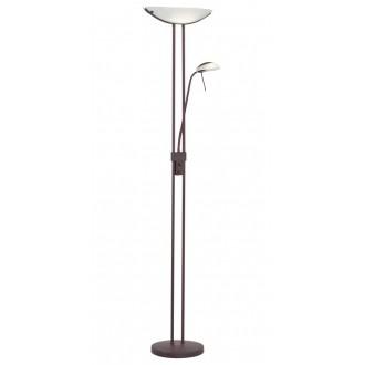 EGLO 85976 | Baya Eglo álló lámpa 180cm fényerőszabályzós kapcsoló 1x R7s + 1x G9 antikolt barna, fehér