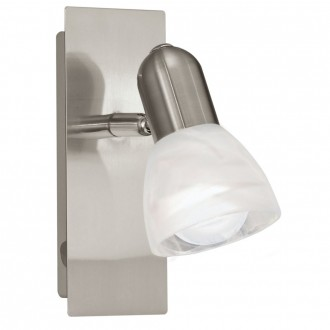 EGLO 86212   Ares1 Eglo fali lámpa kapcsoló 1x E14 matt nikkel, alabástrom