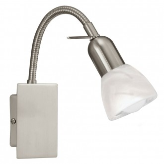EGLO 86213   Ares1 Eglo fali lámpa kapcsoló flexibilis 1x E14 matt nikkel, alabástrom