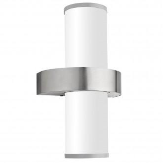 EGLO 86541 | Beverly Eglo fali lámpa 2x E27 IP44 nemesacél, rozsdamentes acél, szatén