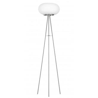 EGLO 86817 | Optica Eglo álló lámpa 157cm taposókapcsoló 2x E27 matt nikkel, matt opál