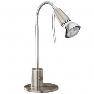 EGLO 86955 | Fox1 Eglo asztali lámpa 33cm kapcsoló flexibilis 1x E14 matt nikkel, króm