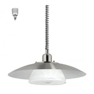 EGLO 87058 | Brenda Eglo függeszték lámpa állítható magasság 1x E27 matt nikkel, alabástrom
