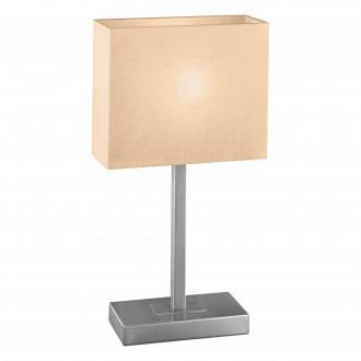 EGLO 87598 | Pueblo1 Eglo asztali lámpa 48cm érintőkapcsoló 1x E14 matt nikkel, fehér