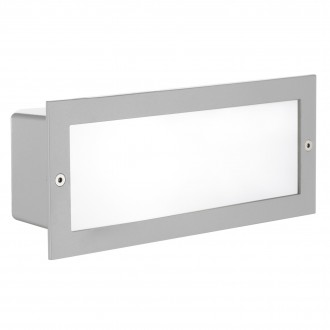 EGLO 88008 | Zimba Eglo beépíthető lámpa 243x101mm 1x E27 IP44 ezüst, szatén