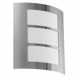 EGLO 88139 | City Eglo fali lámpa 1x E27 IP44 nemesacél, rozsdamentes acél, fehér