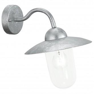 EGLO 88489 | Milton Eglo fali lámpa 1x E27 IP44 cinkezett, átlátszó
