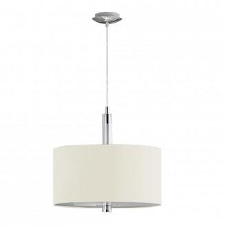 EGLO 88562 | Halva Eglo függeszték lámpa fényerőszabályzós érintőkapcsoló 3x E27 króm, bézs