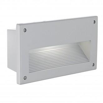 EGLO 88575 | Zimba Eglo beépíthető lámpa 227x127mm 1x E14 IP44 ezüst, szatén
