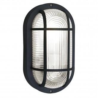 EGLO 88802 | Anola Eglo fali, mennyezeti lámpa 1x E27 IP44 fekete, áttetsző