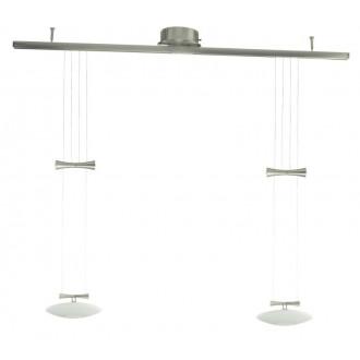 EGLO 89008 | Zeles Eglo függeszték lámpa ellensúlyos, állítható magasság 2x GY6.35 matt nikkel, matt opál