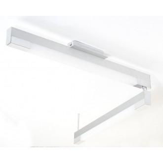 EGLO 89028 | Tramp2 Eglo mennyezeti lámpa 2x G5 / T5 csiszolt alumínium, fehér