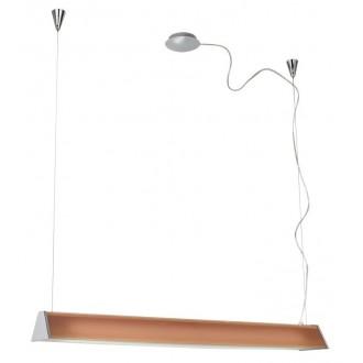 EGLO 89044 | Tramp1 Eglo függeszték lámpa állítható magasság 2x G5 / T5 króm, narancs