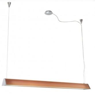 EGLO 89045 | Tramp1 Eglo függeszték lámpa állítható magasság 2x G5 / T5 króm, narancs