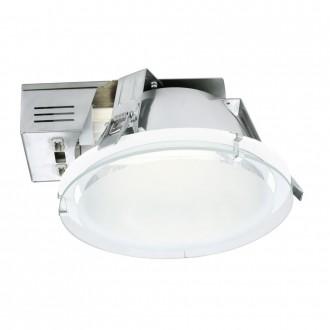 EGLO 89092 | Xara1 Eglo beépíthető - mélysugárzó lámpa Ø220mm 2x G24q-2 / T2U/4P fehér, szatén