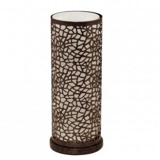 EGLO 89116 | Almera Eglo asztali lámpa 29,5cm vezeték kapcsoló 1x E27 antikolt barna, pezsgő