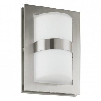 EGLO 89366 | Archa Eglo fali lámpa 1x E27 IP54 nemesacél, rozsdamentes acél, matt nikkel, fehér
