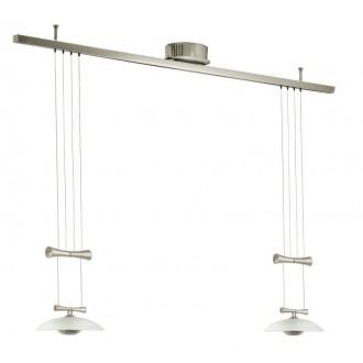 EGLO 89502 | Zeles1 Eglo függeszték lámpa ellensúlyos, állítható magasság 2x GY6.35 matt nikkel, szatén