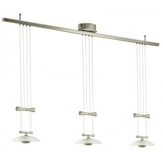 EGLO 89503 | Zeles1 Eglo függeszték lámpa ellensúlyos, állítható magasság 3x GY6.35 matt nikkel, szatén