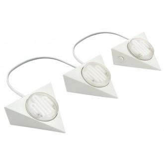 EGLO 89606 | Kob1 Eglo pultmegvilágító lámpa 3 darabos szett 3x GX53 fehér