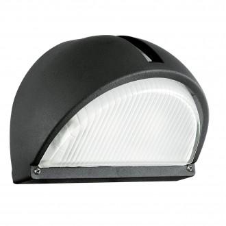 EGLO 89767 | Onja Eglo fali lámpa 1x E27 IP44 fekete, átlátszó