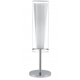 EGLO 89835 | Pinto Eglo asztali lámpa 50cm vezeték kapcsoló 1x E27 króm, fehér, átlátszó