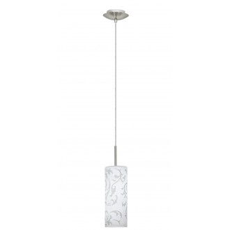 EGLO 90047 | Amadora Eglo függeszték lámpa 1x E27 matt nikkel, fehér