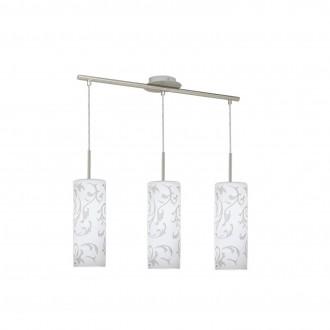 EGLO 90048 | Amadora Eglo függeszték lámpa 3x E27 matt nikkel, fehér