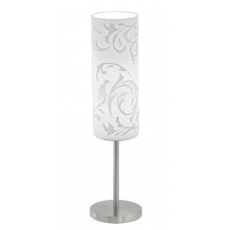 EGLO 90051 | Amadora Eglo asztali lámpa 46cm vezeték kapcsoló 1x E27 matt nikkel, fehér