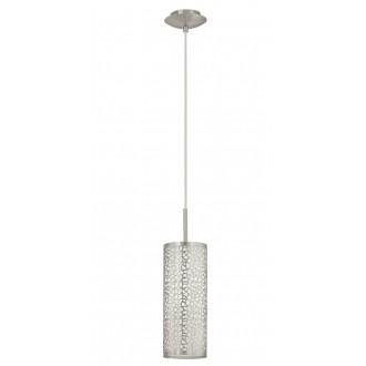 EGLO 90073   Almera1 Eglo függeszték lámpa 1x E27 matt nikkel