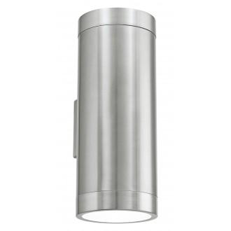 EGLO 90121 | Ascoli Eglo fali lámpa 2x E27 IP44 nemesacél, rozsdamentes acél, átlátszó