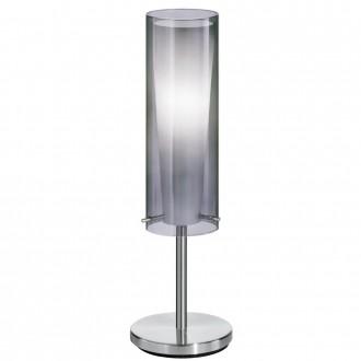 EGLO 90308 | PintoNero Eglo asztali lámpa 50cm kapcsoló 1x E27 matt nikkel, fekete, áttetsző