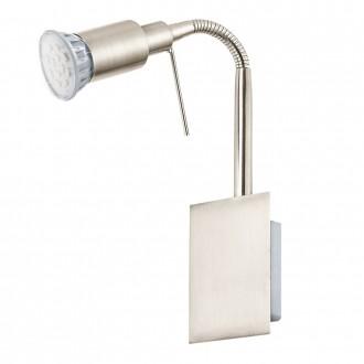 EGLO 90823 | Eridan Eglo fali lámpa vezeték kapcsoló flexibilis 1x GU10 400lm 3000K matt nikkel